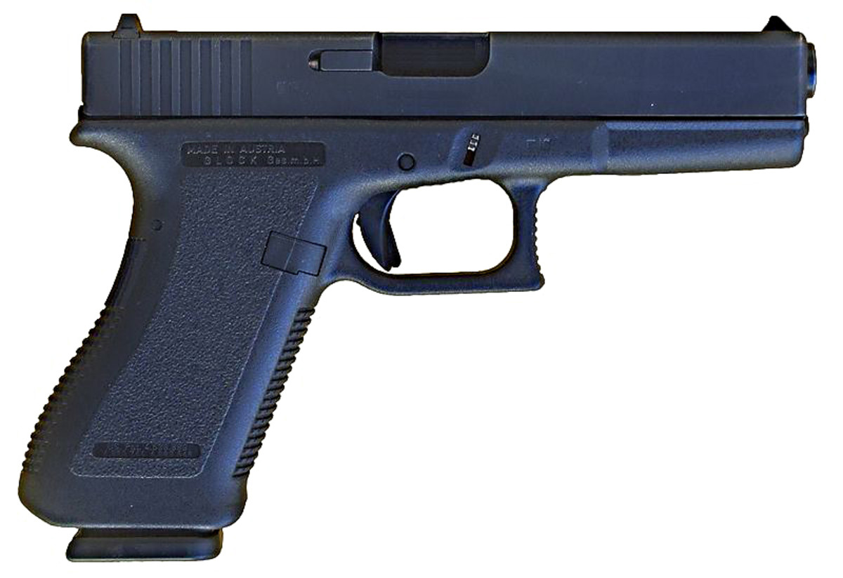 The Glock 17 and its variants is a pistol used in self-defence and the most widely used law enforcement firearm in the world [5]