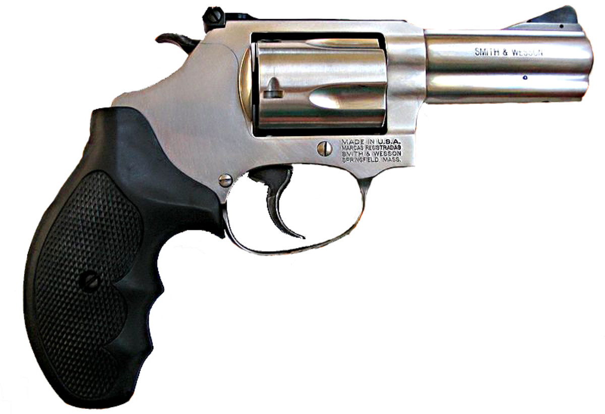 Smith and Wesson Model 60 .38 Revolver. Similar weapons to this one are the most common guns to be confiscated by American law enforcement authorities [7]