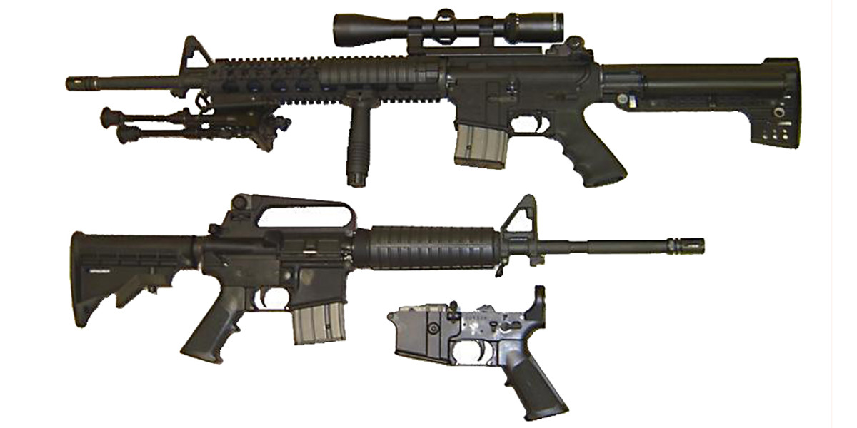 AR-15 semi-automatic rifles
