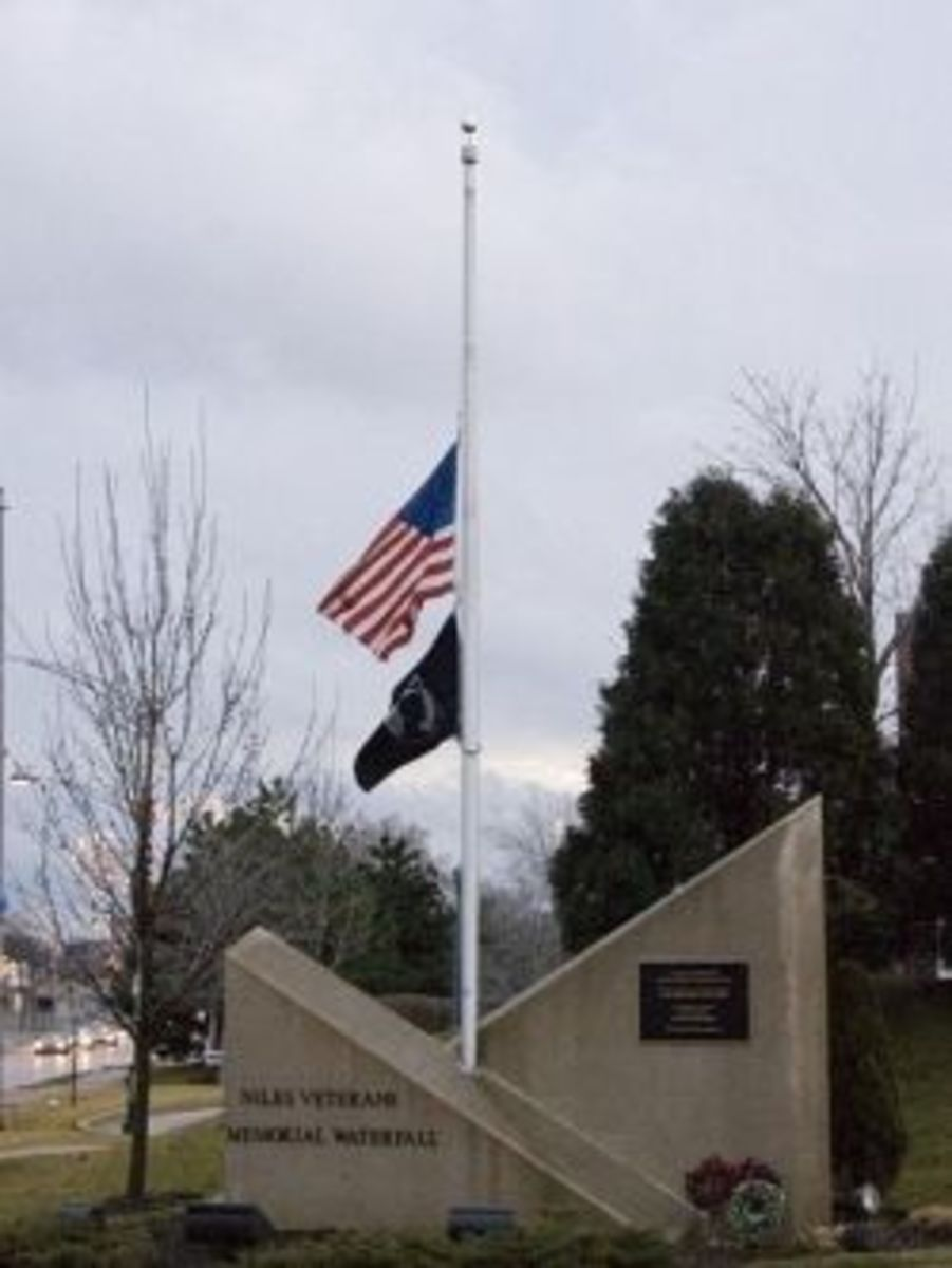 U.S. flag at half staff
