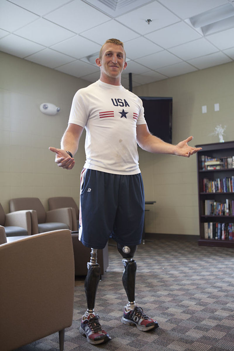 Rob Jones, a former Marine and Paralympic bronze medalist