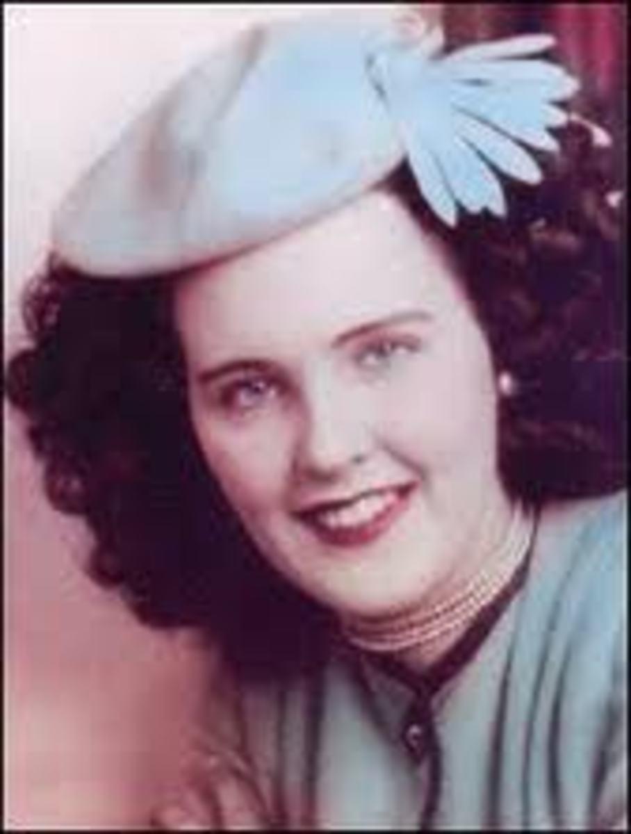 Rare Color Photo of the Black Dahlia