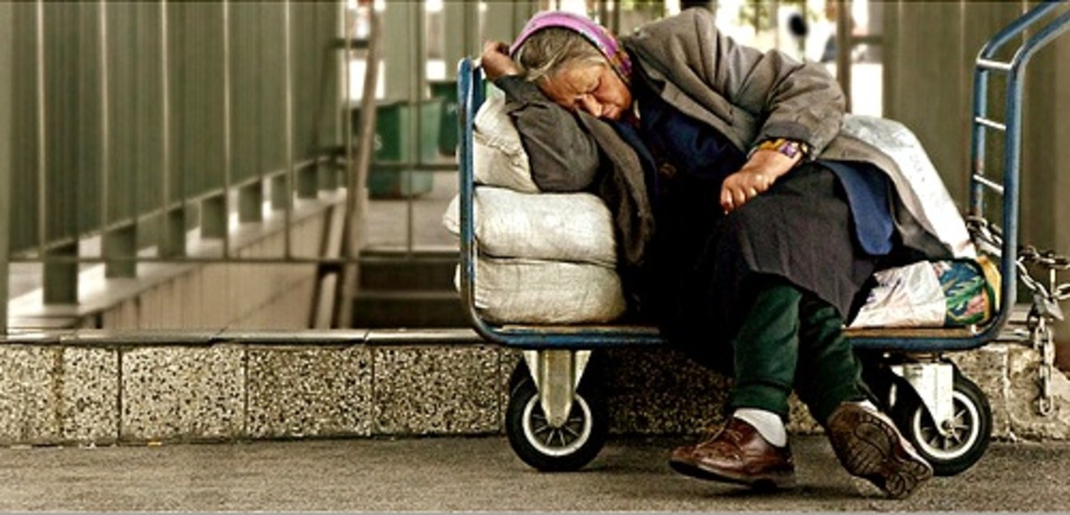 Once a person is homeless it is extremely difficult to get a job and change their situation.