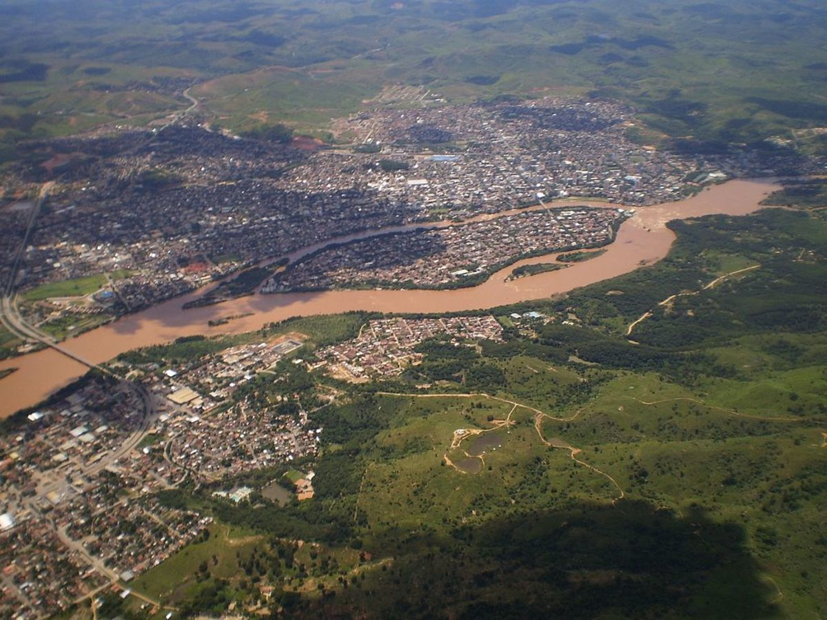 The Doce River after the dams burst