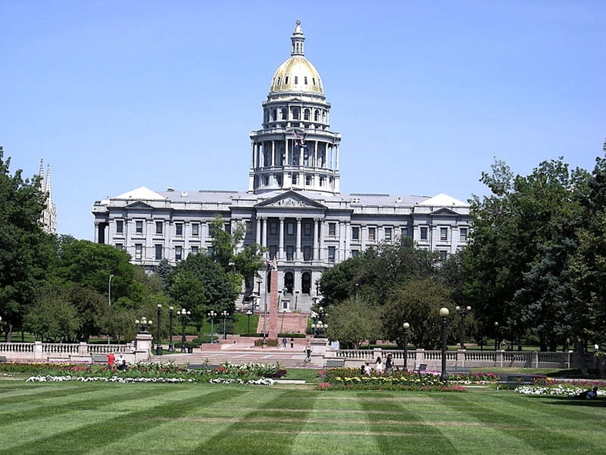 Colorado state capitol building in Denver, Colorado.