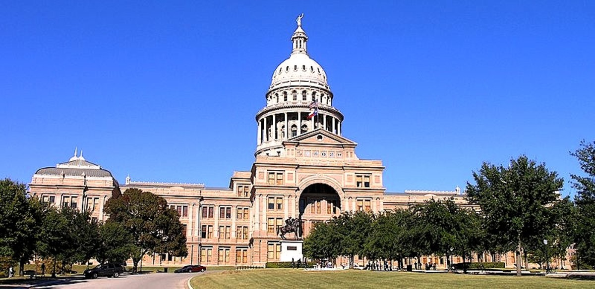 Texas state capitol building in Austin Texas,