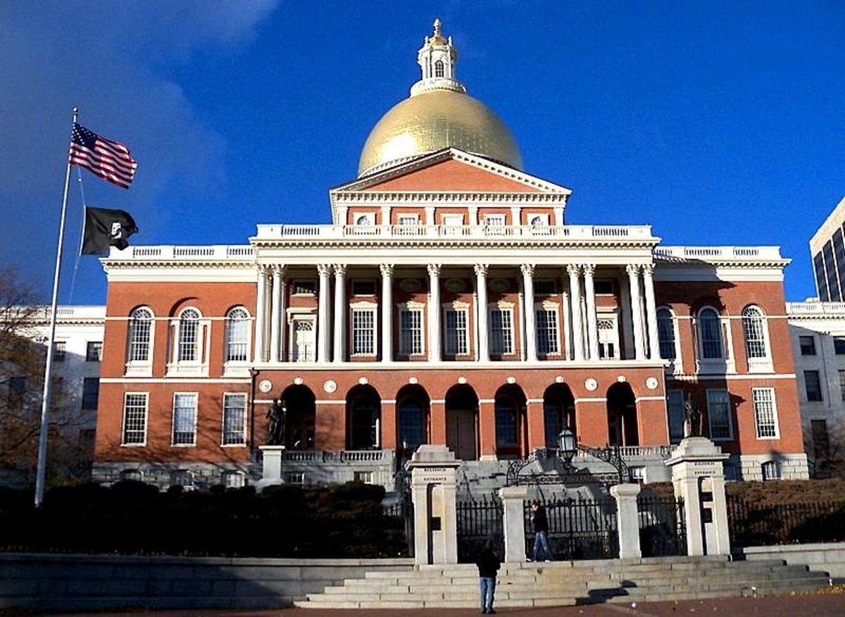 Massachusetts state capitol building in Boston Massachusetts.