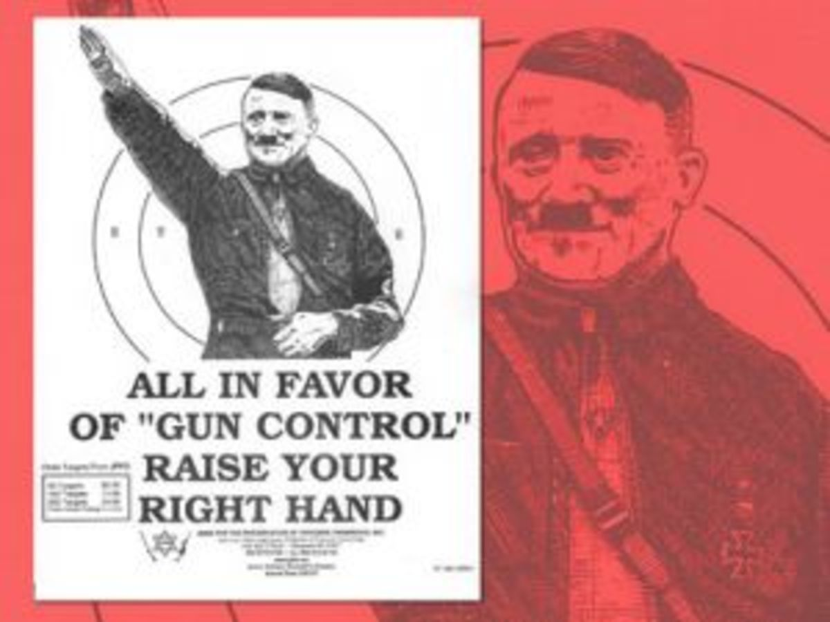 One of Jews for the Preservation of Firearms Ownership's poster using the slogan.