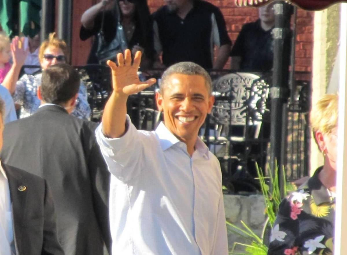 President Obama visiting Iowa
