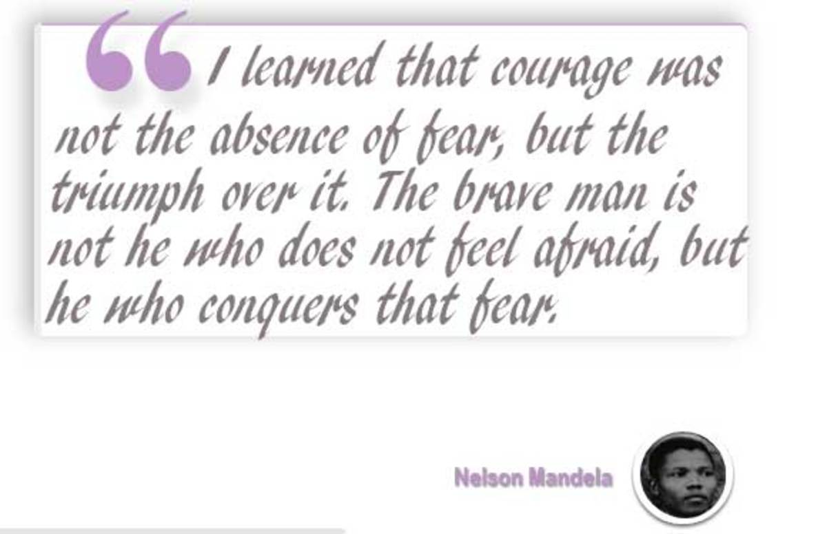 A quote from Mandela on courage.