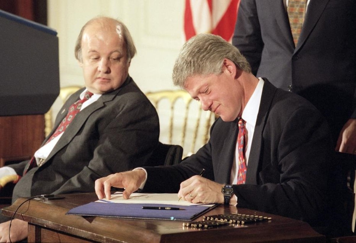 In 1993, President Clinton signed the Brady Law mandating nationwide background checks and a waiting period to buy a gun.