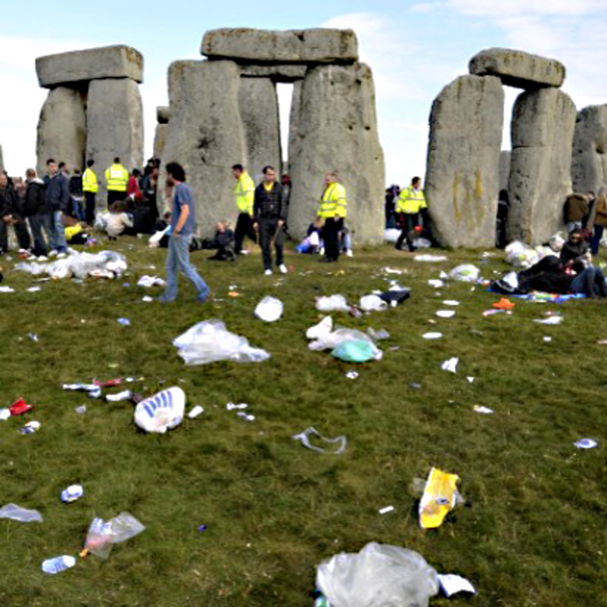 Ancient monument, modern trash