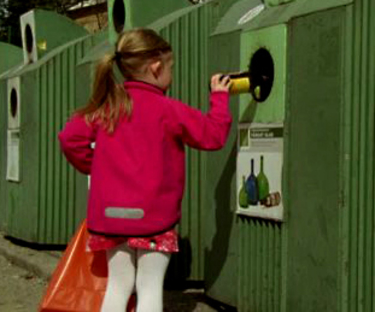 Bottle recycling is a part of life in Sweden