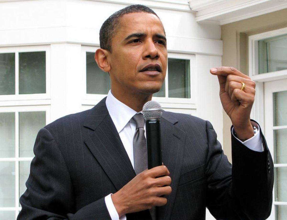 Barack Obama campaigning in 2008