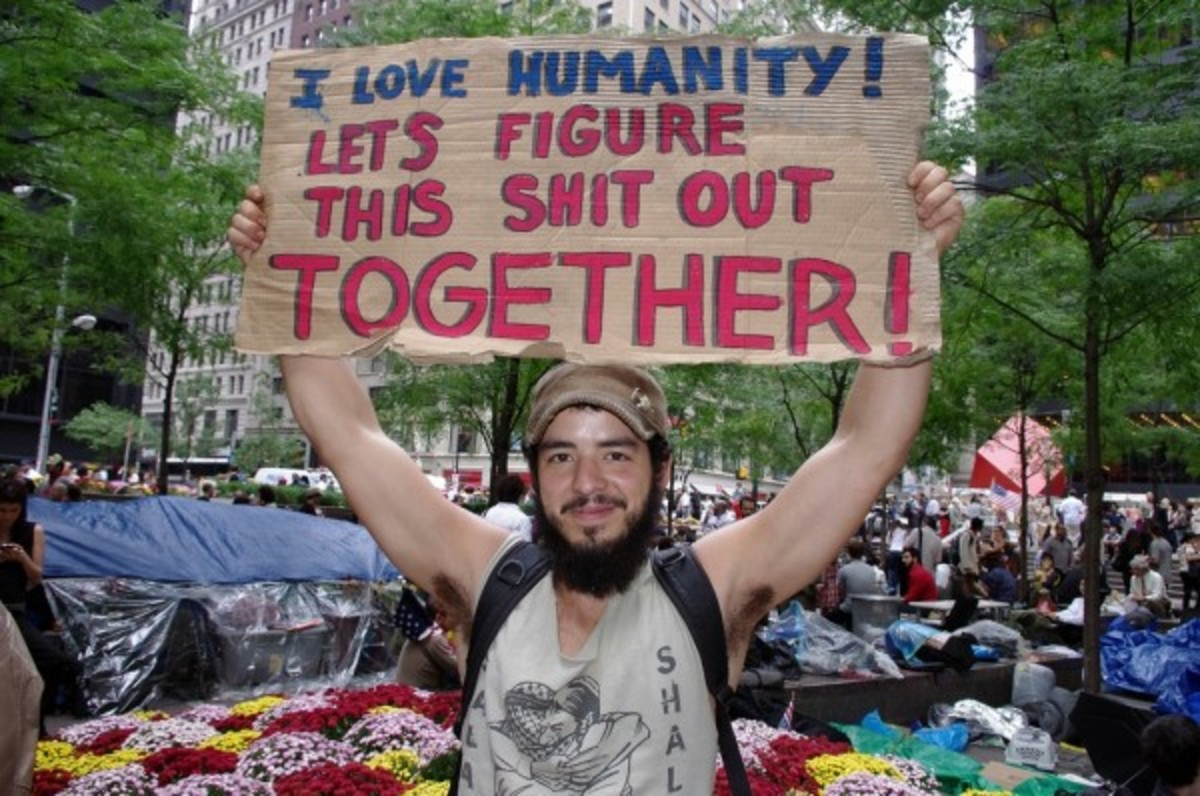 The Occupy movement was an eclectic collection of various leftist ideologies. Free hippies, to progressives right out of college and already burdened with crushing debt...to socialists of varying persuasions and anarcho-communists.