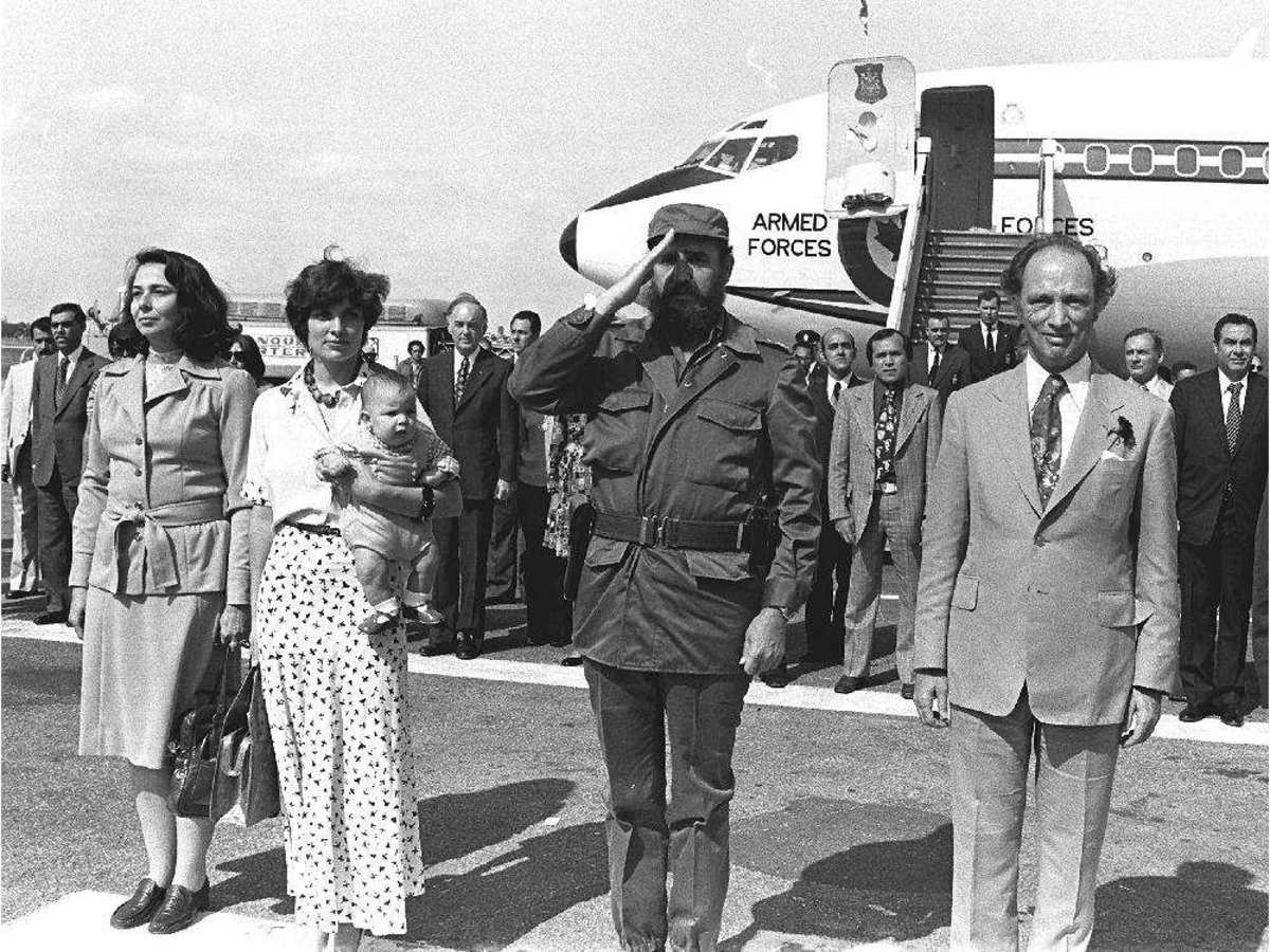 The Trudeaus 1976 state visit to Cuba.