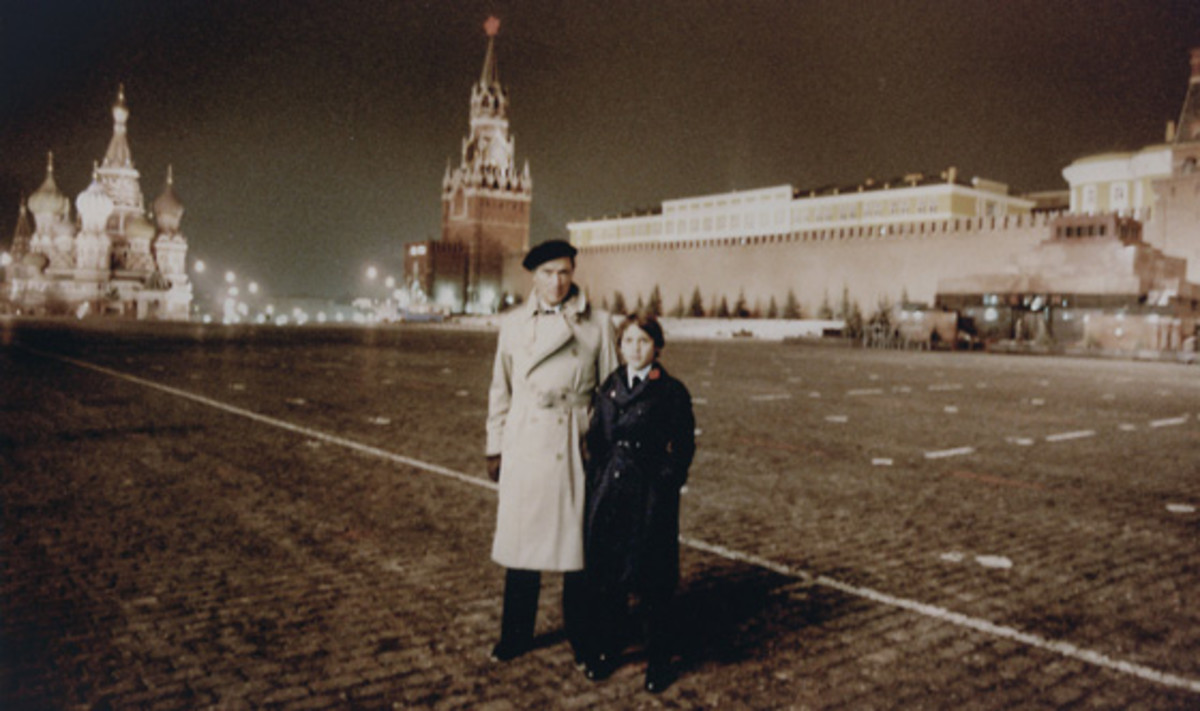 Pierre and Justin in Moscow for the 1982 funeral of Soviet Union leader Leonid Brezhnev.