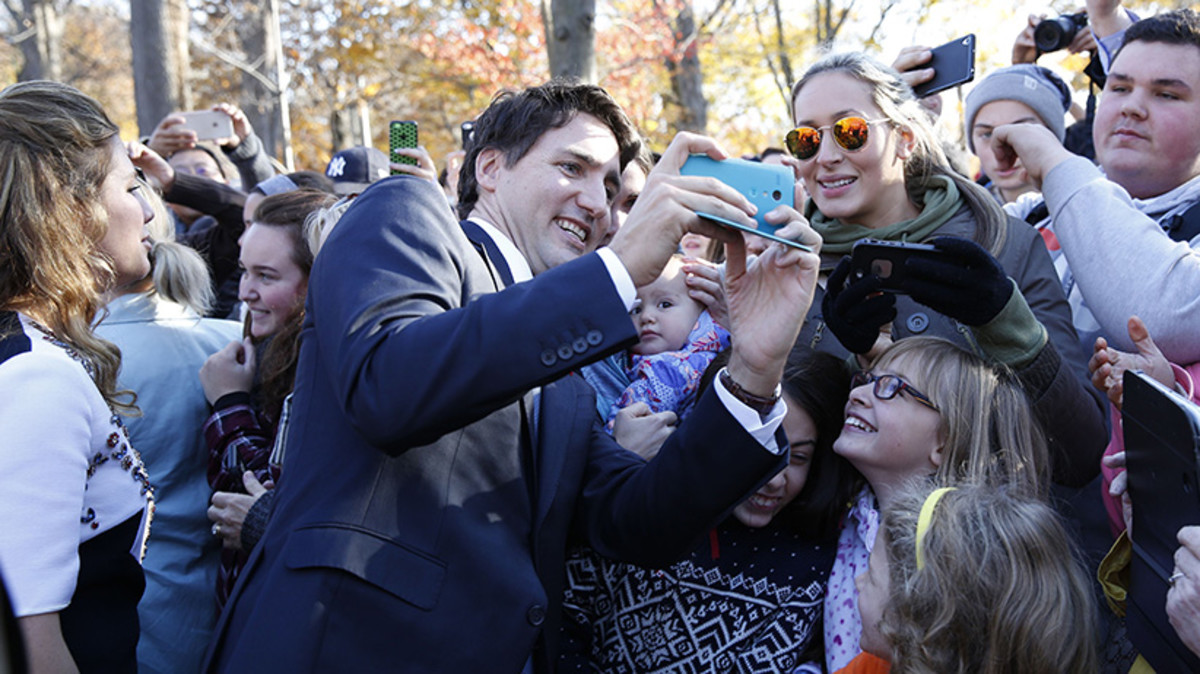 Justin revels in the age of selfies.