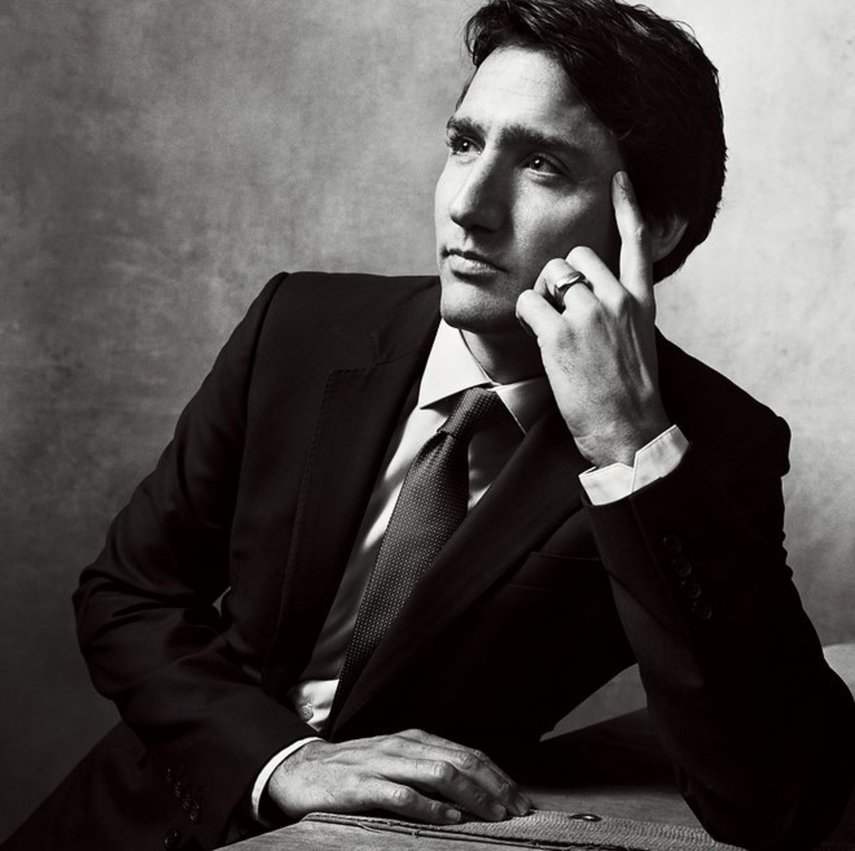 The photogenic Prime Minister in a Vogue fashion shot.