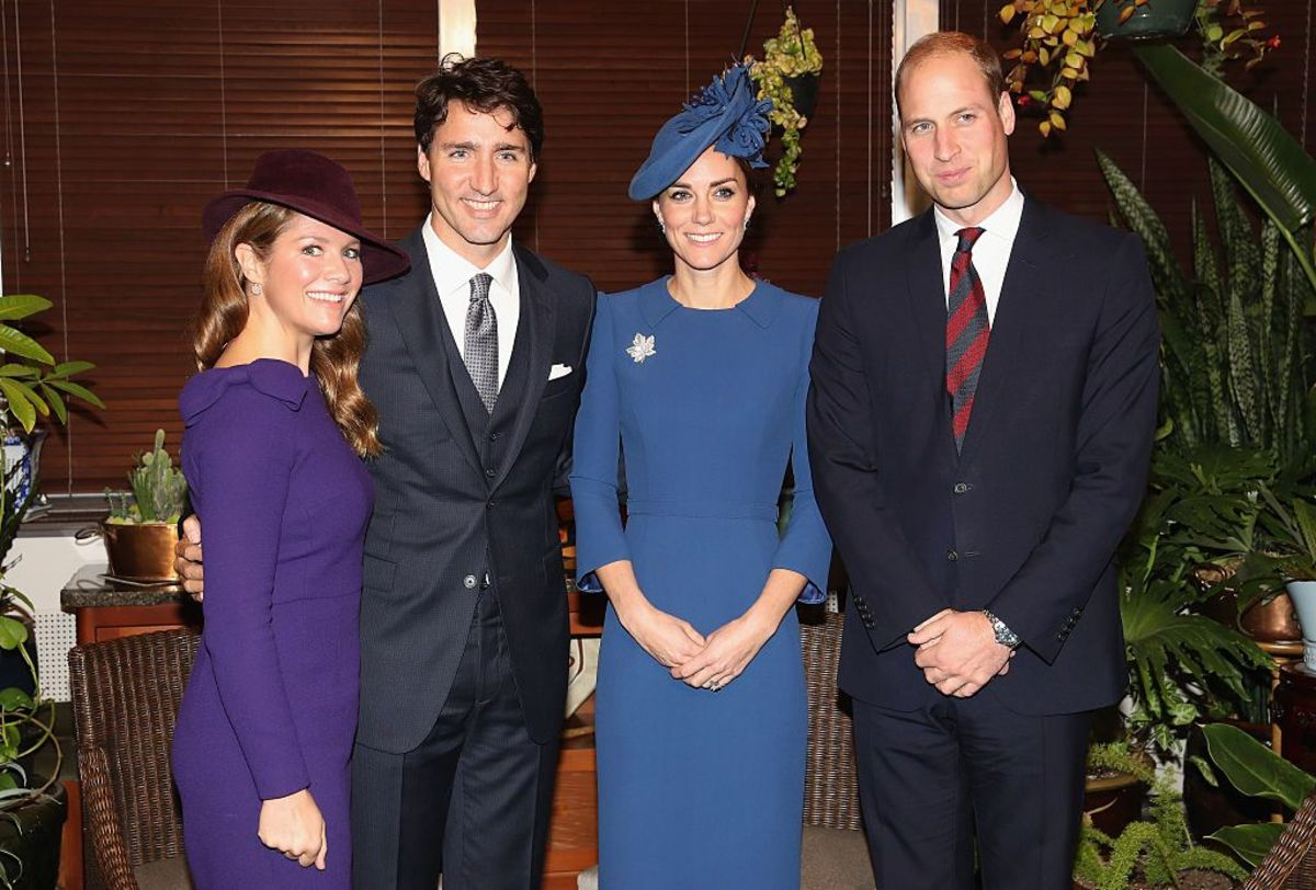 With the Duke and Duchess of Cambridge in Canada, Sep 2016.
