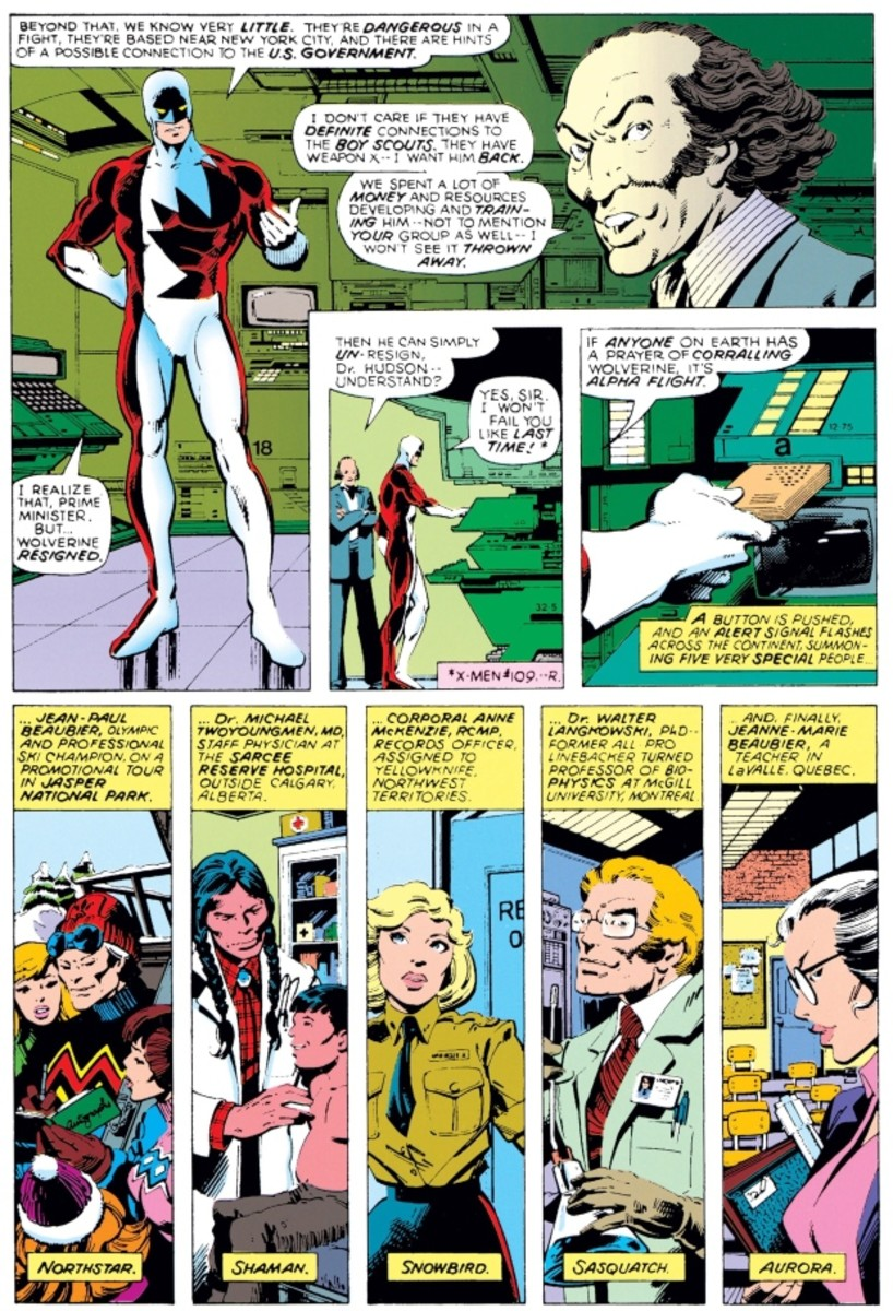 Pierre Trudeau in 1979's Volume 120 of The Uncanny X-Men