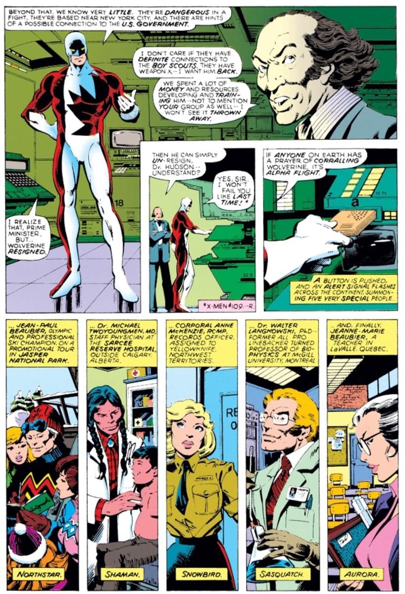 Pierre Trudeau in 1979's Volume 120 of The Uncanny X-Men.
