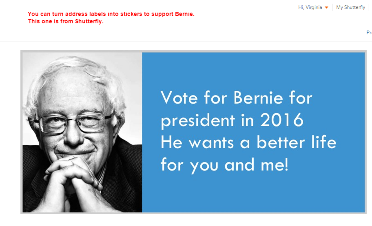 Vote for Bernie Sanders for president in 2016. He wants a better life for you and me.