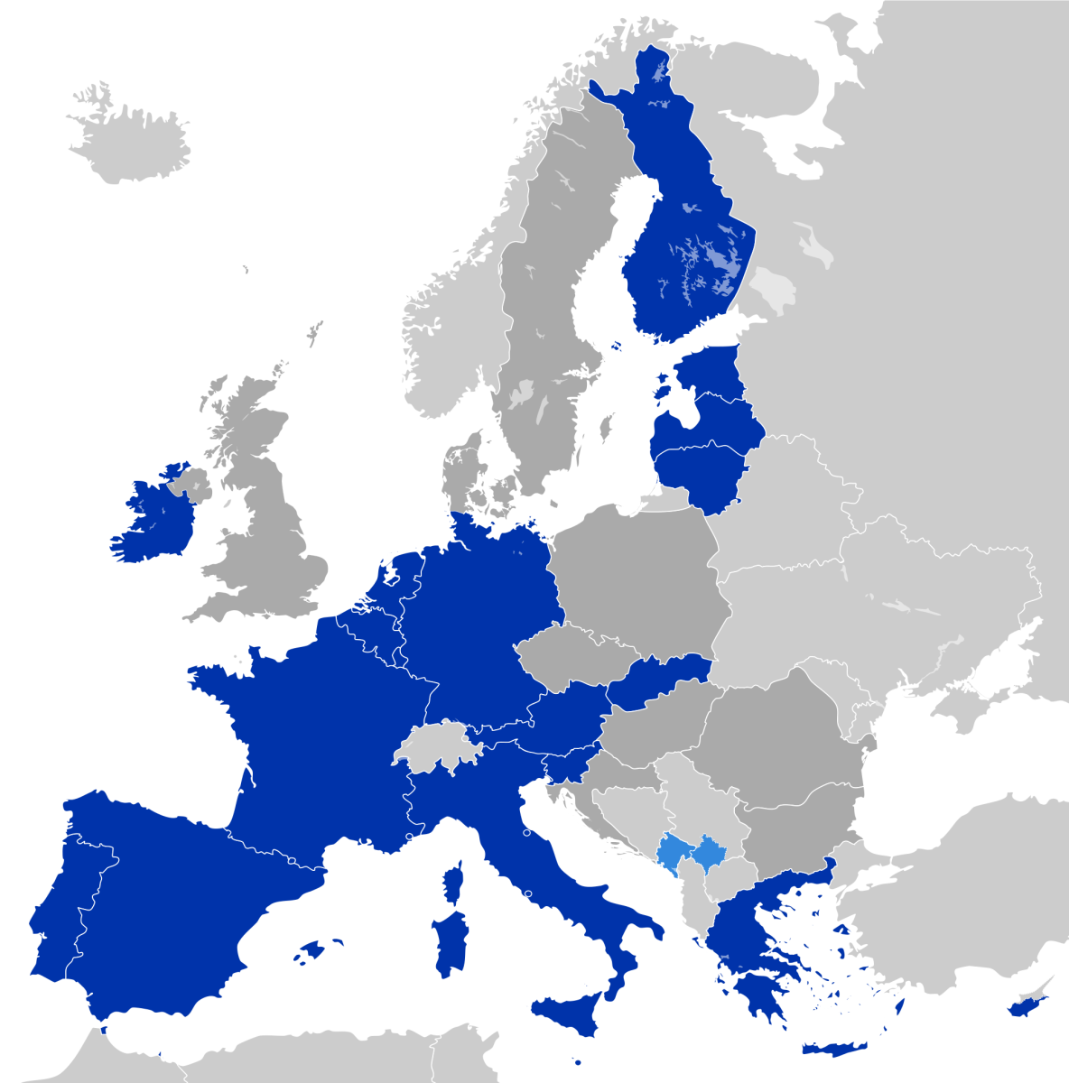 countries with the euro