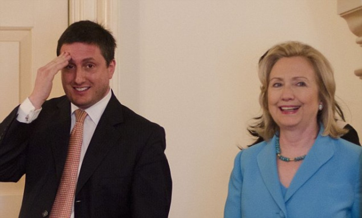 Philippe Reines with Mrs. Clinton