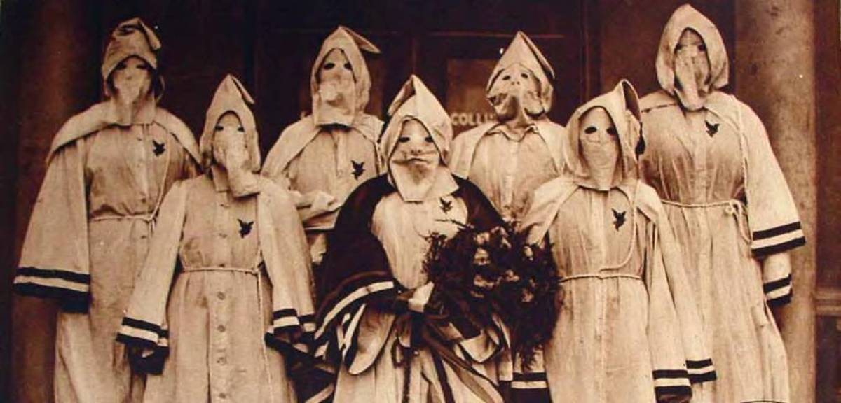 The Klu Klux Klan was Nativism reaction in its worst and most violent form in America, which also included female members
