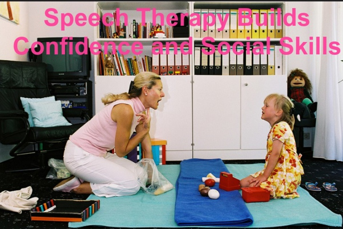 Speech therapy is done one-or-one or in small groups.