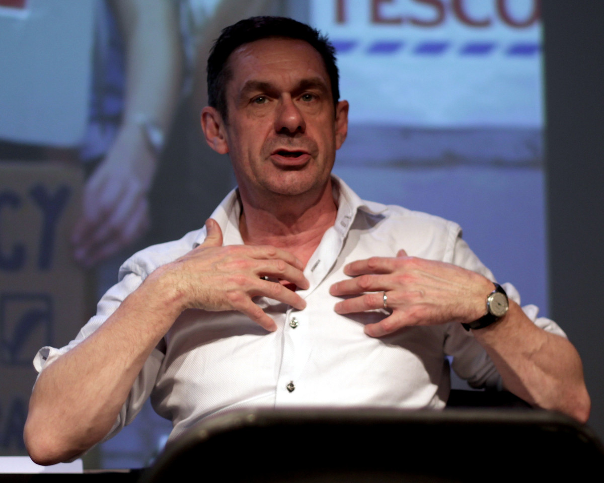 Paul Mason speaking at the launch event for Global Now in 2015.