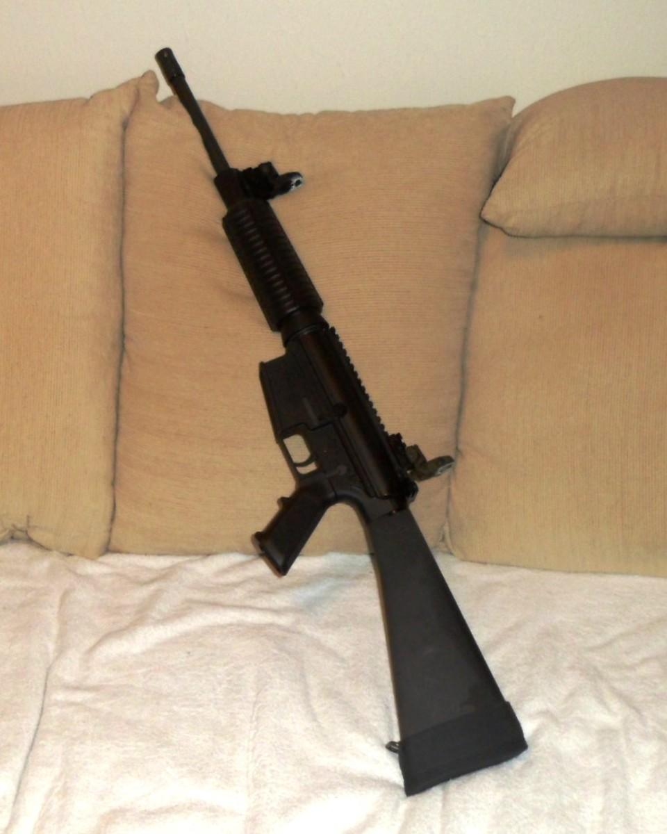 .308 caliber rifle on the AR platform.