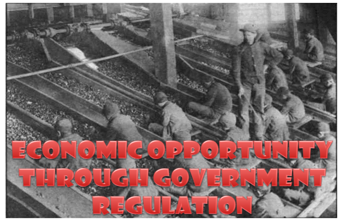 At the time, there were no rules about who could work and for what pay. The government believed that private enterprise could run without interference. Industry took advantage of the situation!