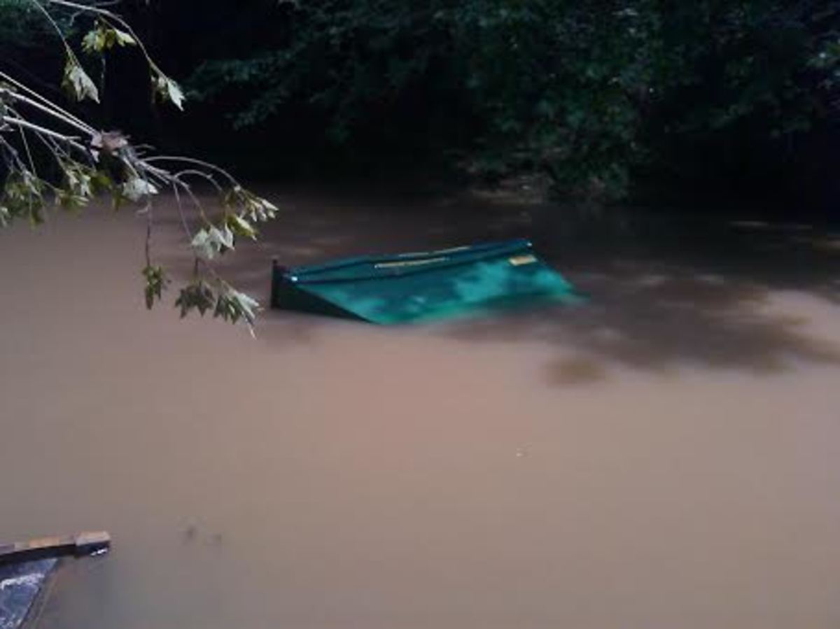 More debris from the flooding will continue to litter water ways throughout the state.