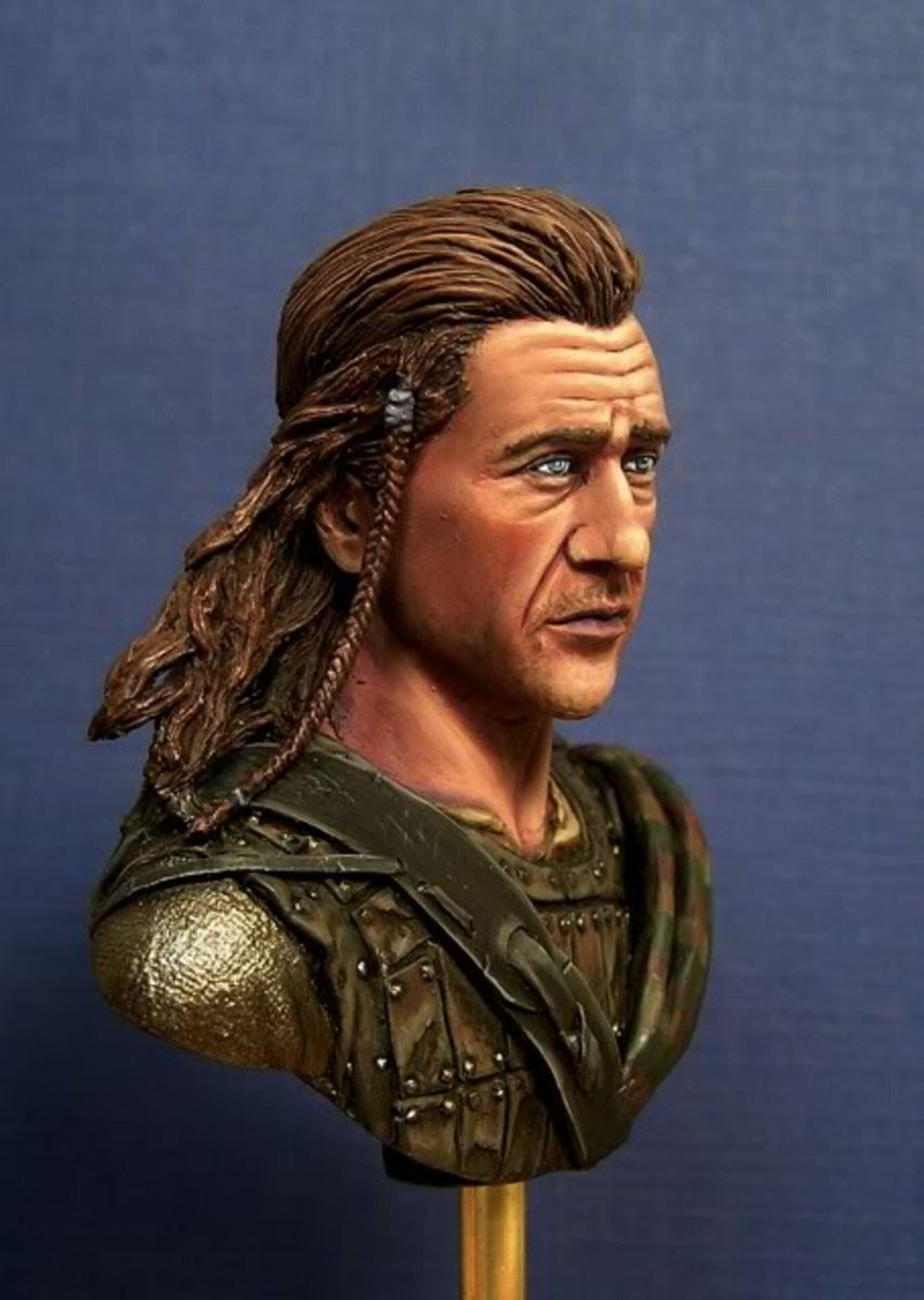 Image of William Wallace as portrayed in the movie 'Brave Heart' played by Mel Gibson.