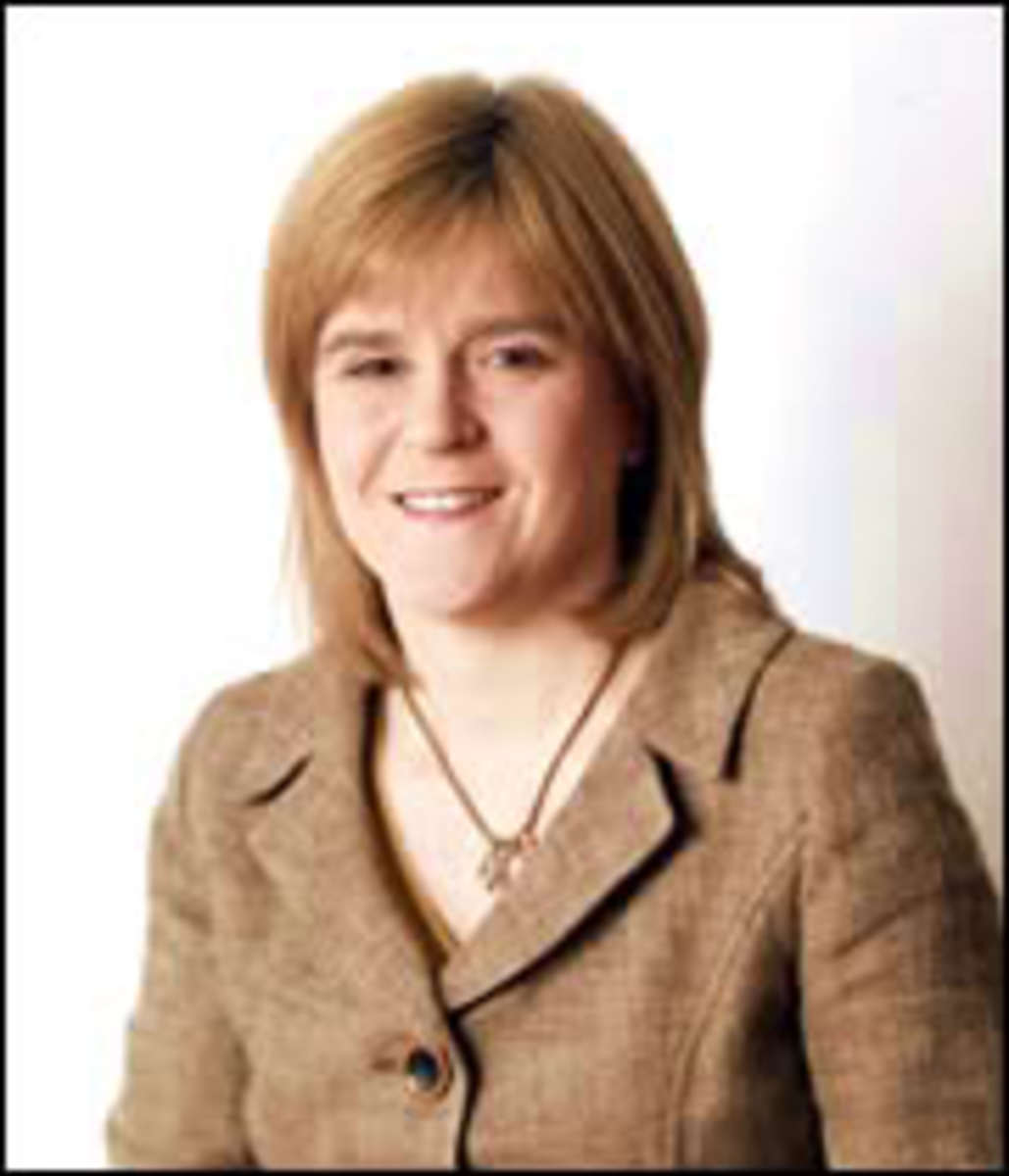 Nicola Sturgeon leader of the SNP and First Minister of Scotland.
