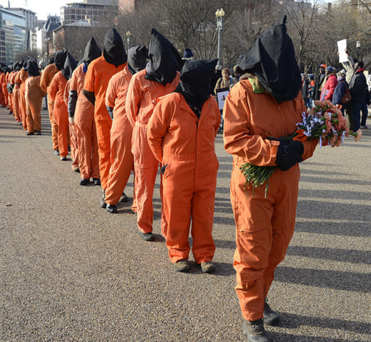 Protest against torture in Washington, D.C.