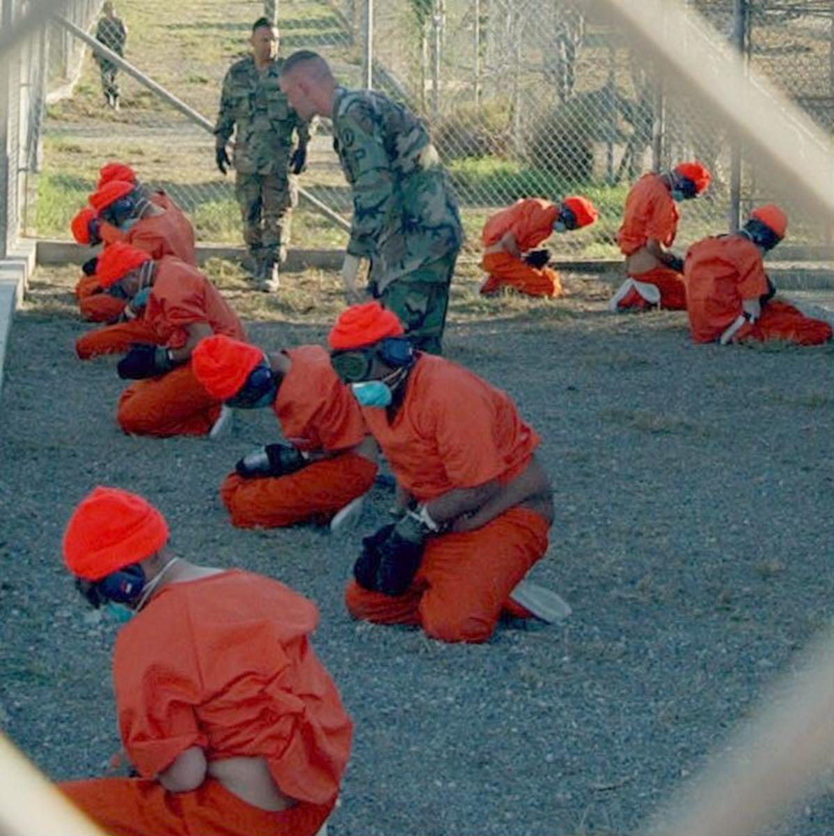 Gitmo detainees in 2002.