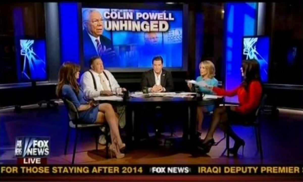 "Fox News set describing Colin Powell as ""unhinged"""