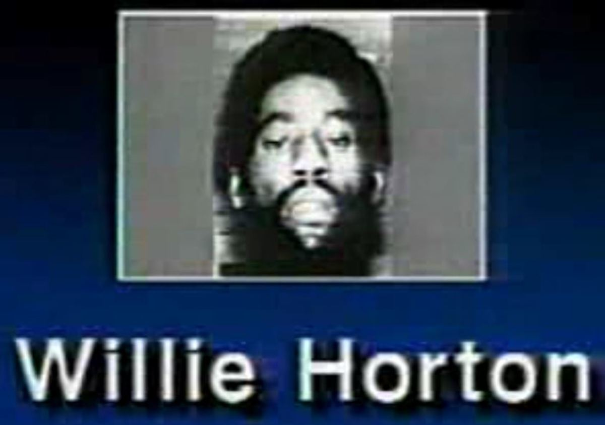 Willie Horten in a 1988 television ad supporting Republican George H. W. Bush
