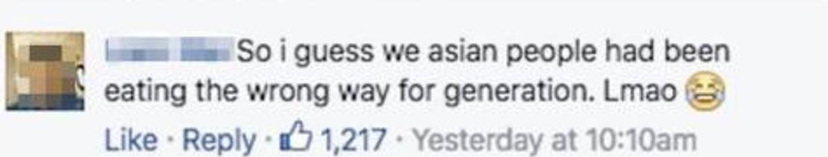 Another Facebook Reaction to Bon Apétit