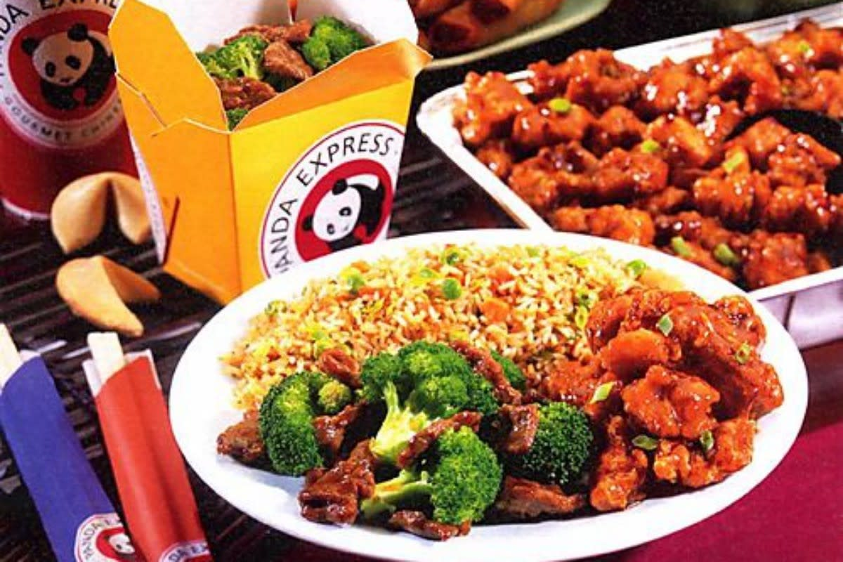 A Typical Meal from Panda Express