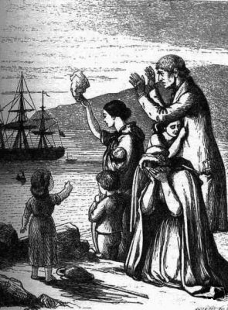The Great Famine caused a mass emigration from Ireland to (mainly) America. Now America has a larger ethnic Irish population than Ireland.