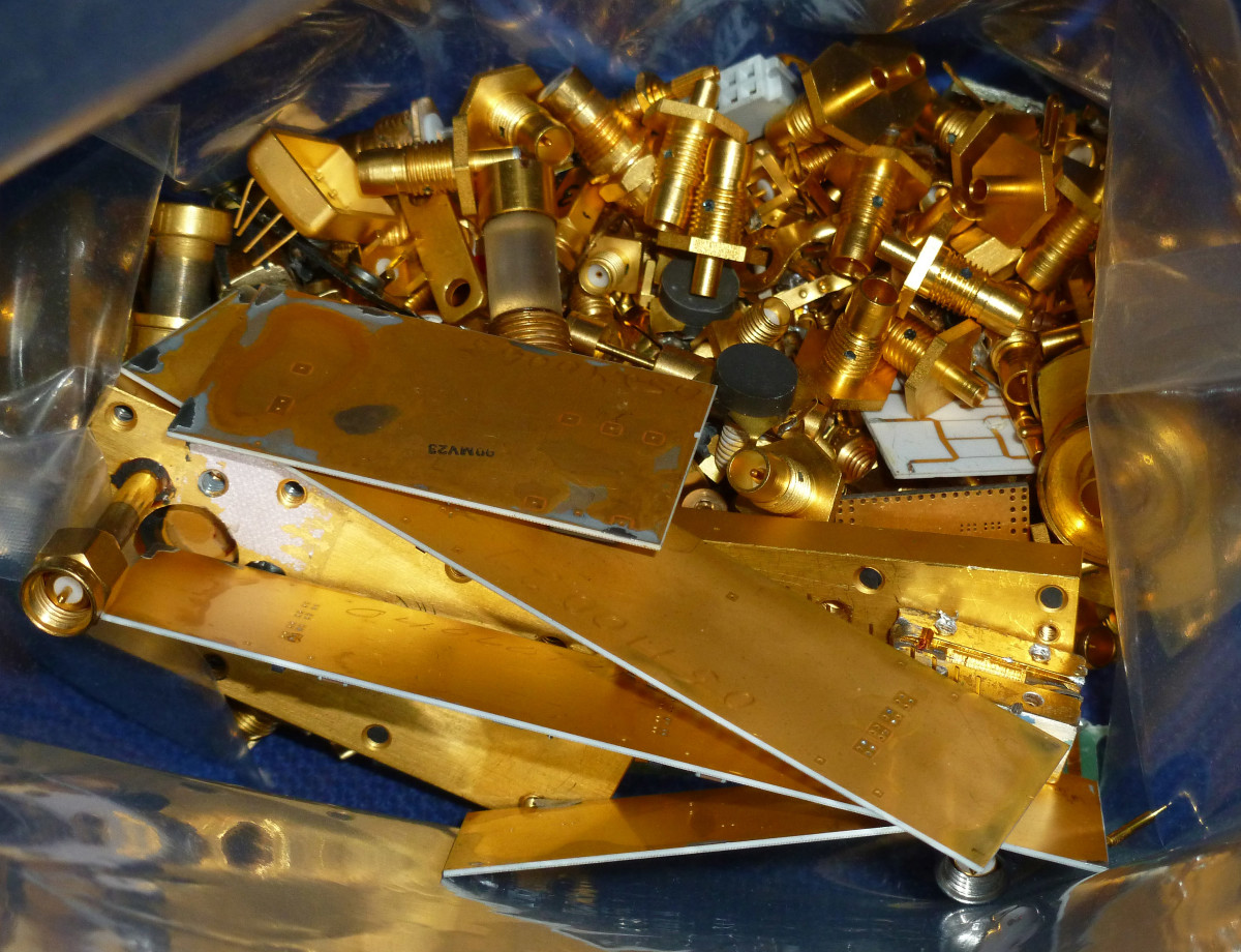 Gold is no longer used as heavily in the electronics industry.
