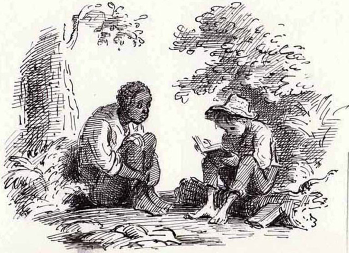 Huckberry Finn is a diffucult read to get through for modern times because of its use of the word, 'Nigger'.  Some have even redact the story becasue of it