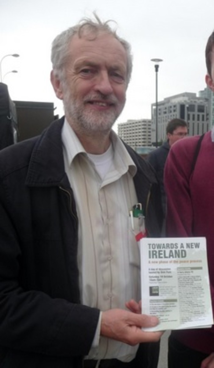 Leader of the Labour party Jeremy Corbyn whom Tony Blair has described as a nutter