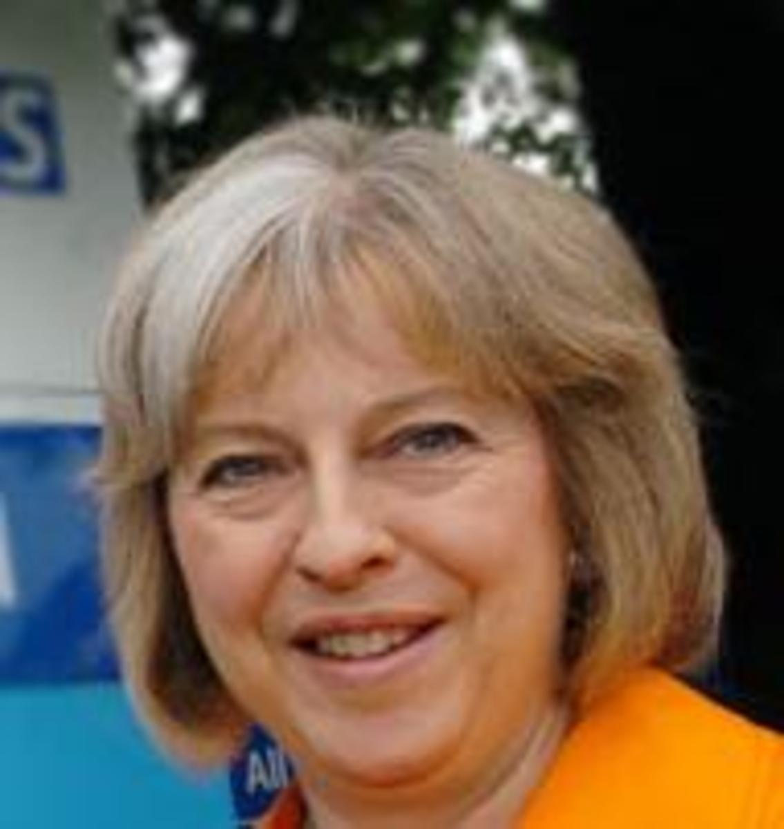 Theresa May whom Tony Blair has described as a lightweight