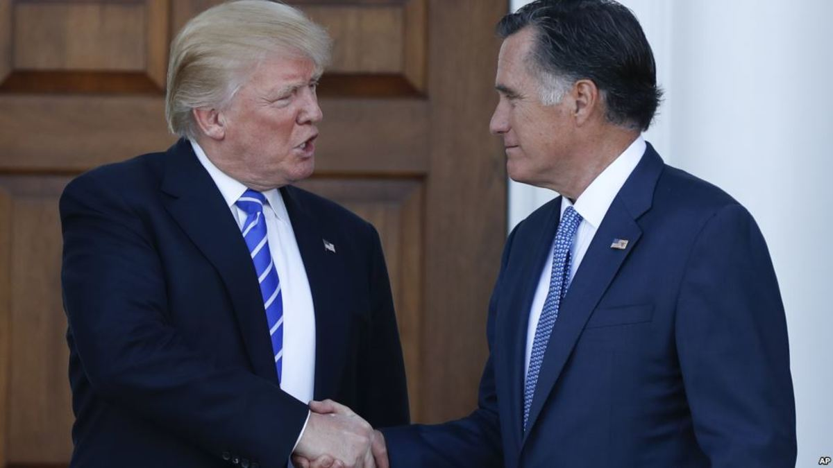President-Elect Trump and Mitt Romney