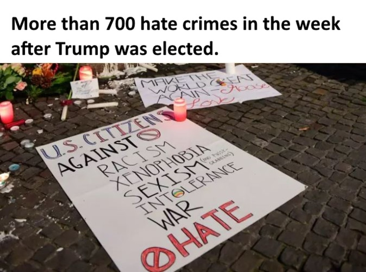 "Reports include a Mexican family, who woke up to graffiti that read, ""Can't stop the Trump, Mexicans"" spray painted, along with a swastika, across their garage in Washington."